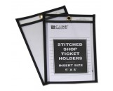 "Shop Ticket Holders, Stitched, Both Sides Clear, 25"", 5 x 8, 25/BX"