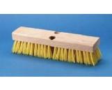 """Deck Brush Cream Plastic 10"""", 12/cs"""