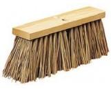 """Street Broom Black plastic 16"""", 12/cs"""