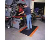 Cushion Trax Mat, 4' x 6', Black-Red
