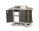 X-Tra Full Size Housekeeping Cart with Doors, Plat, 1/Ctn
