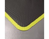 Diamond Plate 3' X 5' Blk with Yellow Border, Ea