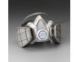 Dual Cartridge Respirator Assembly 51916, Multi Gas/Vapor/P100 Filter, L