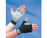 Amara/Terry Washable Anti-Vibration Gloves, L, Gray/Black