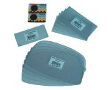 """Safety plate 2"""" x 4-1/4"""" polycarbonate, Lens: Clear"""
